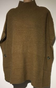 NEXT TOFFEE KNITTED BUTTON PONCHO JUMPER BNWT SIZES SMALL & LARGE
